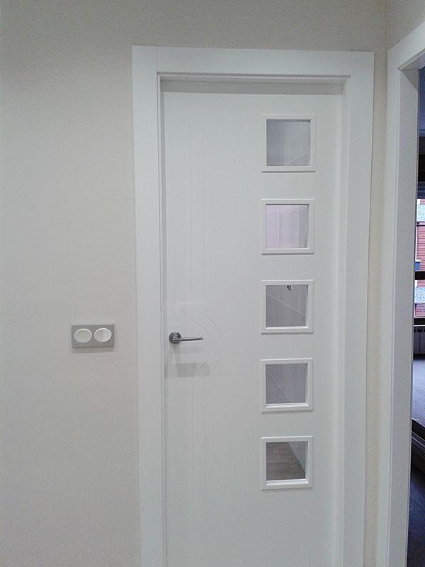 Puerta Lisa Modelo C3-5 Vidrios P