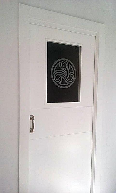 Puerta Lisa Modelo C4-1 Vidrio