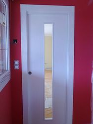 Puerta Lisa Modelo C1-1 Vidrio Estrecho