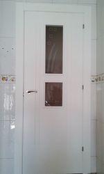 Puerta Lisa Modelo C1-2 Vidrios Estrechos
